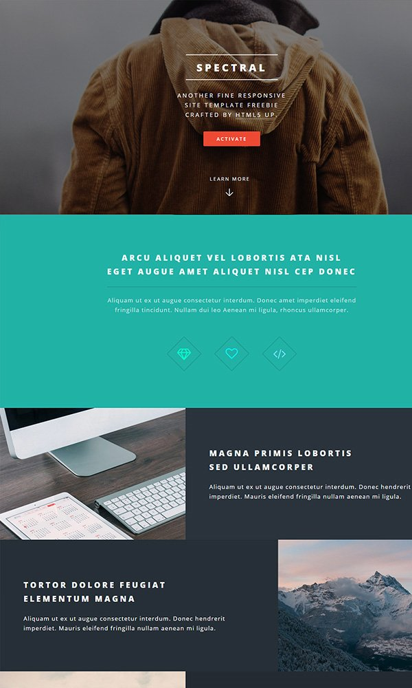 SPECTRAL - Responsive Website Template