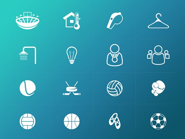Sport Related Icons Pack