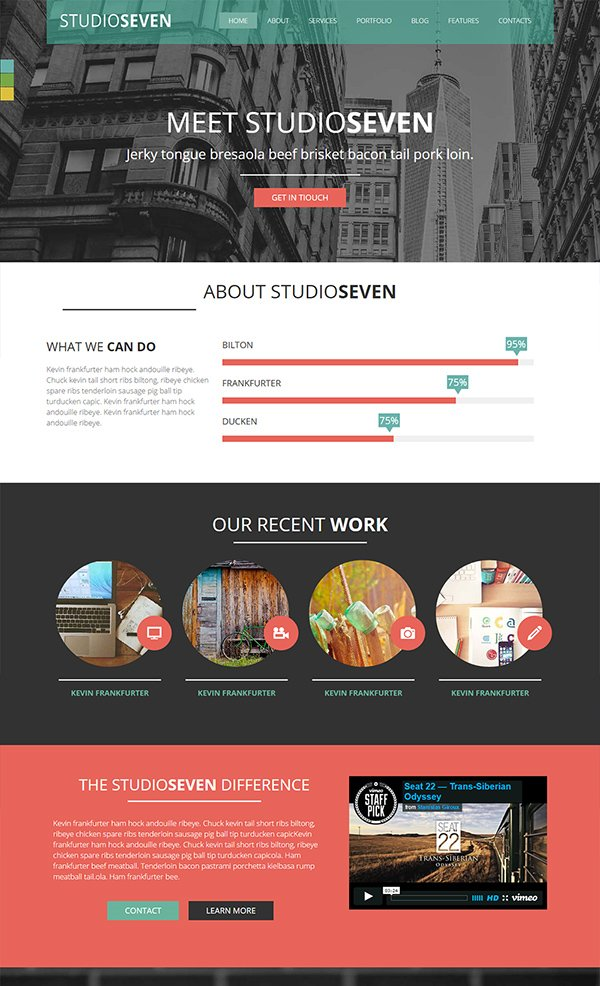 Studio Seven - A Corporate Multipurpose Responsive Web Template