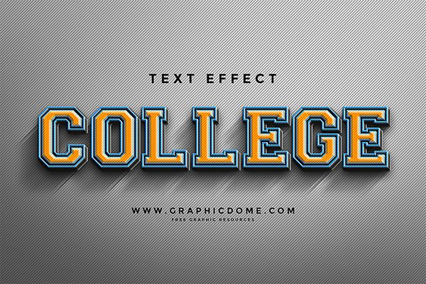 College Text Effect