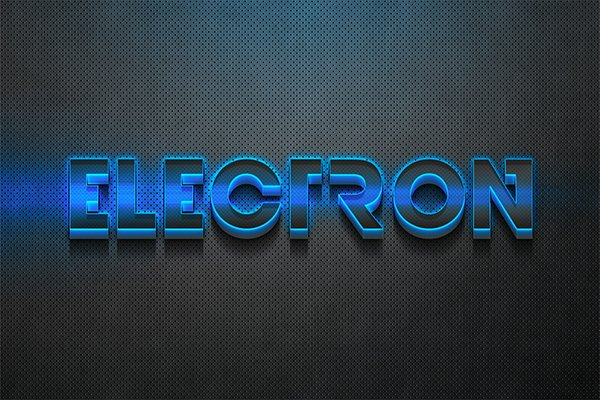 3D Electron - Photoshop Effect