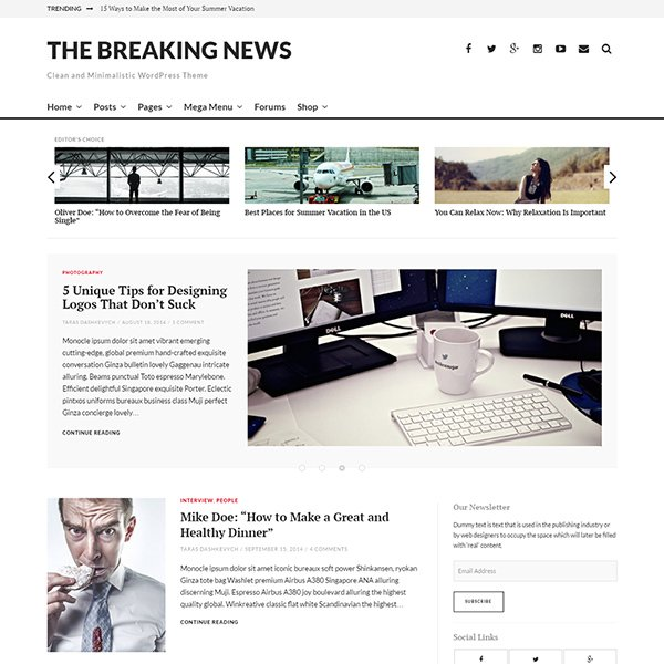 The Breaking News - Responsive WordPress Theme