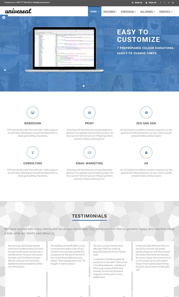UNIVERSAL - Business & E-Commerce Template