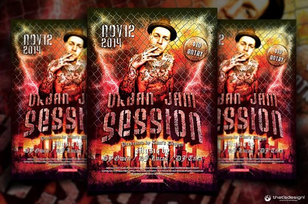 Jam Session Flyer Free Template