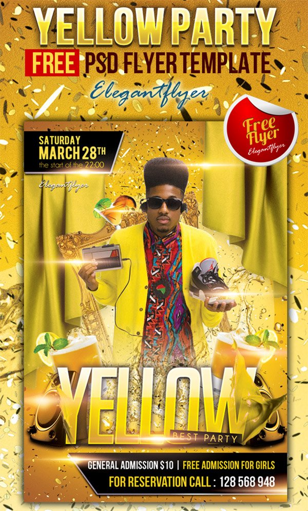 Yellow Party Flyer Template